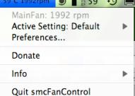 smcFanControl : Contrôler son ventilateur sur Mac…