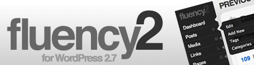 Fluency 2 : Thème d'administration WordPress 2.7