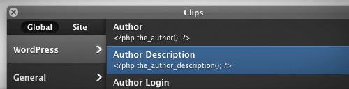 Les fonctions de WordPress en un clic avec les clips Coda !