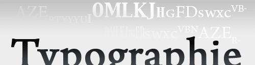 La typographie dans le graphisme.