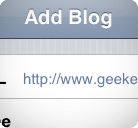 Ajouter blog WordPress iPhone