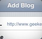 Ajouter blog WordPress iPhone