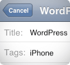 Article WordPress iPhone