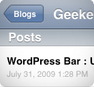 Liste Articles WordPress iPhone