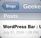 Liste Articles WordPress iPhone
