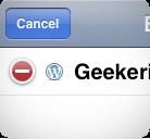 Supprimer Blog WordPress iPhone