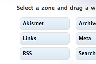 Les widgets dans une page à disposition dynamique !