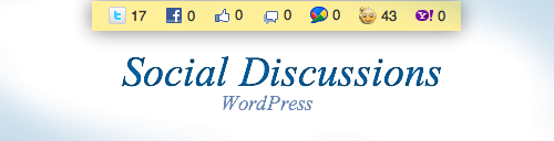 Social Discussions : Le partage et la popularité de vos articles WordPress !