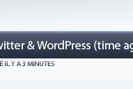 Intégrez la fonction «Time ago» de Twitter à WordPress !