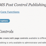 CMS Post Control WordPress