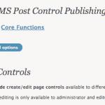 CMS Post Control WordPress