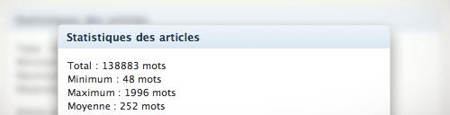 PostStats : Statistiques des articles de votre blog WordPress !
