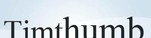 Redimensionnez vos images grâce à Timthumb !