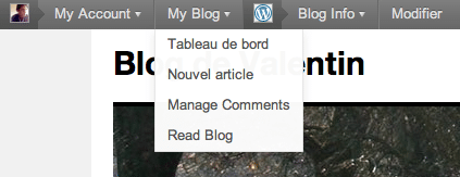Barre d'administration de WordPress 3.1
