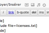 Exécuter le contenu d'un fichier dans vos articles !