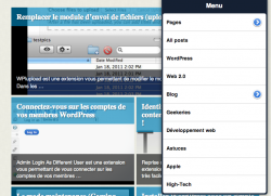 Onswipe sublime WordPress sur iPad