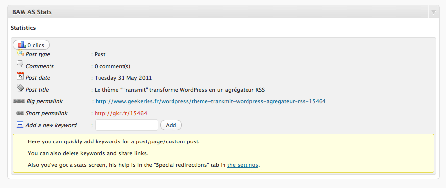 Le Plugin AutoShortener Posts WordPress