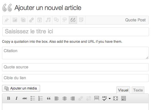 Ajouter un article (WordPress 3.6)