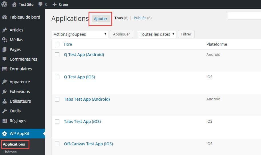 005 - Ajouter une application