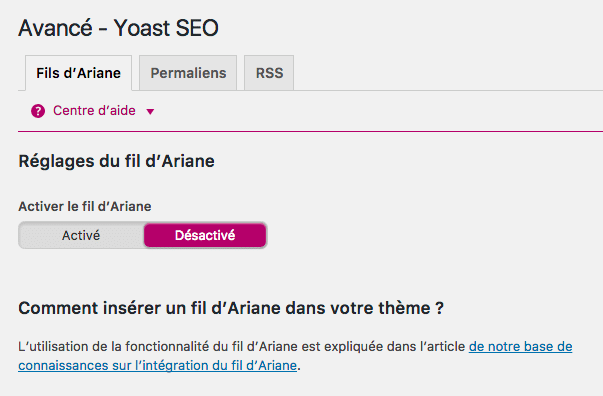Avancé - WordPress SEO by YOAST