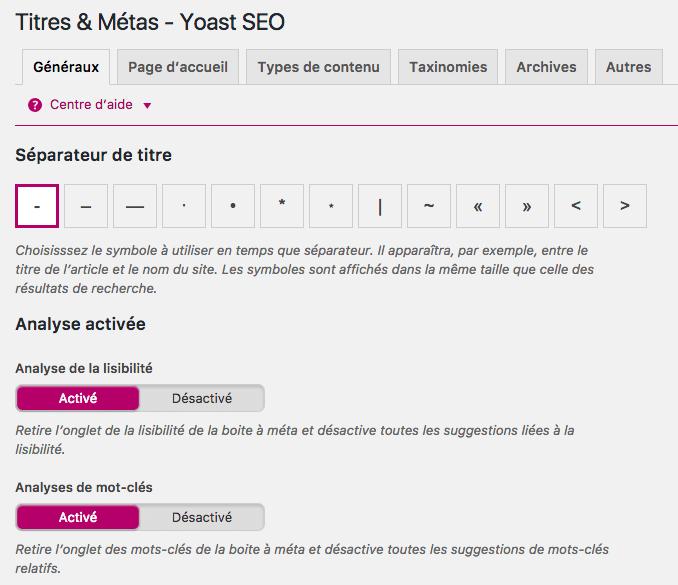 Titres - WordPress SEO by YOAST