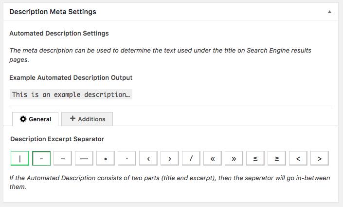 The SEO Framework Description