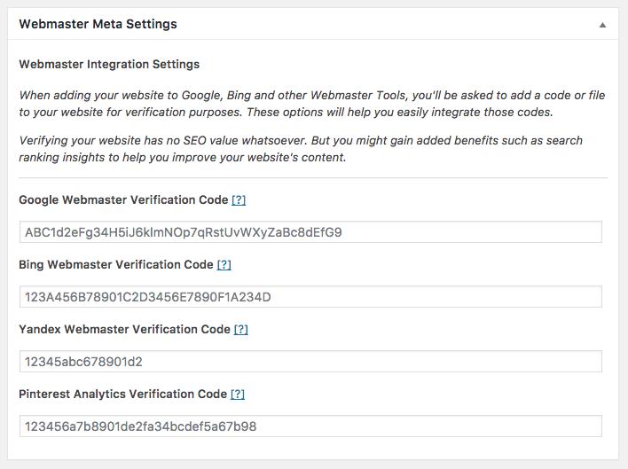 The SEO Framework Webmaster