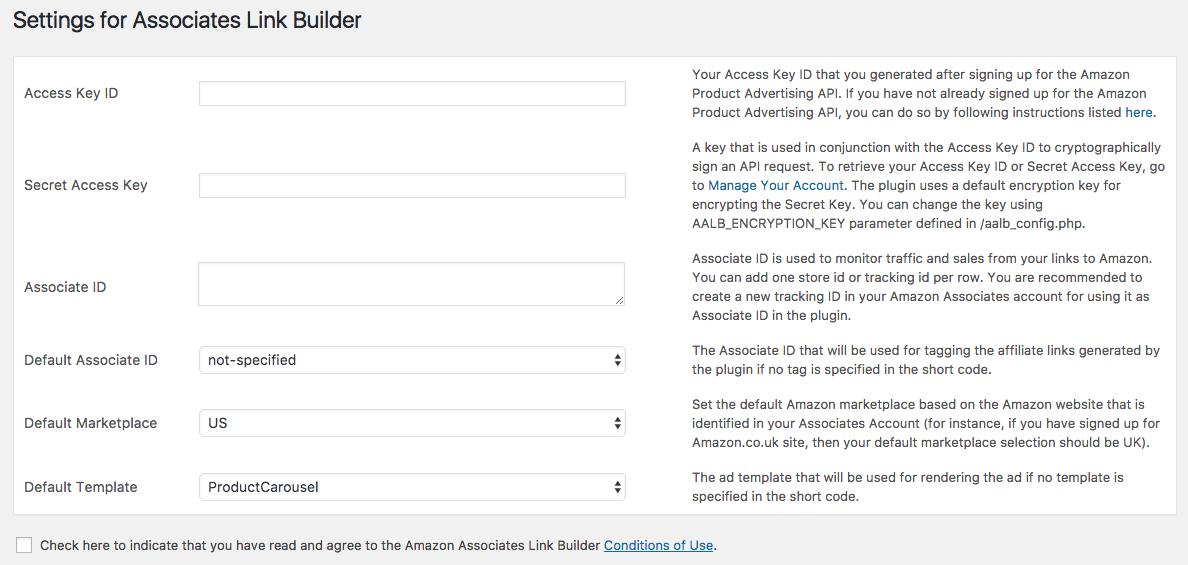Affiliation Amazon WordPress avec Amazon Link Builder